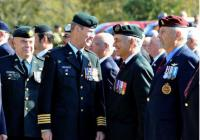 Col Comdt speaks with Capt. Jean Thivierge (Ret'd)