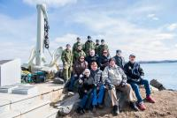 Project Team for HMCS Bonaventure Monument refurbishment effort at Point Pleasant Park in Halifax, NS