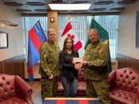 2019 Bursary Winner Erica Hawker with WO Hawker and WO Maynard (Petawawa Chapter President)