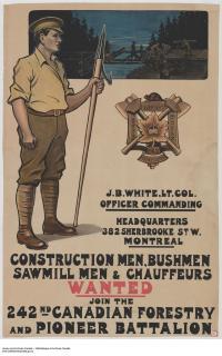 242 Cdn Forestry Pnr Bn Recruiting Poster