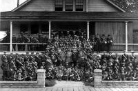 Draft #1 6 Fd Coy, CE in Front of Their Armoury, August 1914
