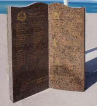 This memorial at Saint-Aubin-sur-Mer lists the names of soldiers of the 8th Infantry Brigade killed during the assault.  Among the names are six members of the 5th Field Company, Royal Canadian Engineers.