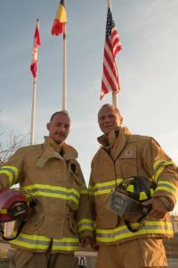 Sept 11 run Sgt Boudreau and SSgt Williams completed in bunker gear for fallen responders