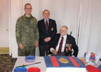 Cake cutting - Spr Kameron Roache, Dennis Dwyer and Bill Corbett