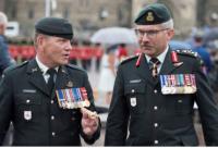 CWO Alain Guimond, Army Sergeant Major and LGen Paul Wynnyk, Commander Canadian Army // L'Adjuc Alain Guimond, Sergent-major de l'Armée et le Lgén Paul Wynnyk. Commandant de l'Armée canadienne