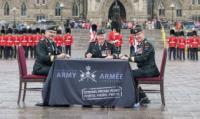The Change-of-Command ceremony took place at Parliament Hill // La cérémonie de passation de commandement s'est déroulée sur la colline du Parlement