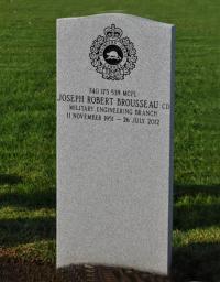 Grave Stone MCpl Joseph Robert Brousseau, CD