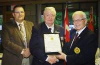 New Recipient - CMEA Commendation - Branch CWO Ron Swift, MWO Jim Harris (Ret'd) and Col Comdt Steve Irwin