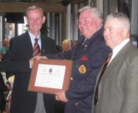 Jim Harris receiving CME Branch Commendation
