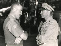 MAJOR-GENERAL CHRIS VOKES (LEFT) MEETS WITH FIELD MARSHAL SIR HAROLD ALEXANDER