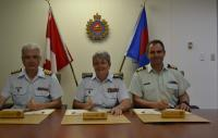 Col K.G. Horgan, CD, MGen C.T. Whitecross, OMM, CD and/et LCol M.A. Gasparotto, MSM, CD