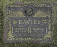 "Grave Marker Captain Malvern ""Mal"" Leslie Davies (Ret'd)"