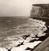 Cliffs overlooking the landing beaches