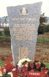 RCE Dieppe Memorial at Newhaven, England