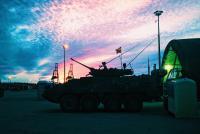 48 Cbt Svc Sp Sqn responded to over 100 repair and recovery requestsduring Exercise Nihilo Sapper 2015. // Le 48e Escadron de soutien logistique du combat a répondu à plus de 100 appels de réparation et de recuperation durant l'exercice Nihilo Sapper 2015. Photo: le Capt Neil Sinclair, 4 RAG