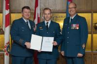 MCpl Boudreau was awarded the Wing Commander's Commendation at 17 Wing on 12 Oct 16
