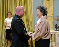 Her Excellency the Right Honourable Adrienne Clarkson, Governor General of Canada presents the Meritorious Service Decorations to CWO DG Fox. The presentation ceremony was held at Rideau Hall, Monday 30 May 2005 // Son Excellence la très honorable Adrienne Clarkson, Gouverneure générale du Canada, présente la décoration pour service méritoire à l'adjuc DG Fox La cérémonie de remise a eu lieu à Rideau Hall, à Ottawa, le lundi 30 mai 2005