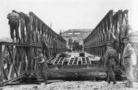 Sappers building a Bailey Bridge like the ones Gerry built over the Orne River in Normandy
