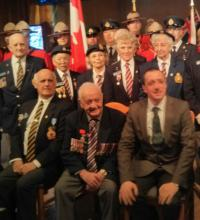 Cpl Gerry Gaudet with Jean-Christophe Fleury, Consul of the French Embassy at a ceremony at the Walley Legion in Surrey, BC.