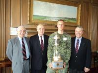 2012 Winner OCdt Bouwman with Dave Carney, MGen Stewart and John Lesperance