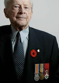 S/Sgt Paul Métivier at 102 years old