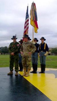 Col Mark Misener receives US Legion of Merit award at Ft Hood, TX
