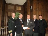 Mr. Ted House of TD Meloche Monnex Presenting $ 6,000 Cheque to CMEA