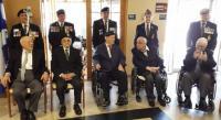 Louis-Philippe Michaud is the fourth veteran from the left (seated) // M. Louis-Philippe Michaud est le 4e vétéran assis en partant de la gauche