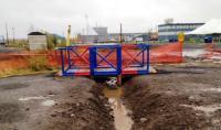 No wooden bridge is complete without the mark of the Engineer Colours // aucun pont de bois n'est complet sans les couleurs du génie