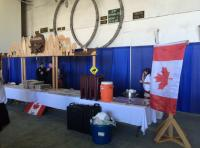 HMCS Vancouver manages a display representing Canada during the international reception at the end of Ex Rim of the Pacific (RIMPAC) on 4 Aug 16. The display was entirely designed and built by Cpl Lee-Ann Smith, a construction engineering technician with 2 Wing. // NCSM Vancouver utilise un présentoir représentant le Canada durant la réception internationale de clôture de l'exercice Rim of the Pacific (RIMPAC) le 4 août 2016. Le présentoir a été entièrement dessiné et fabriqué par la Cpl Lee-Ann Smith, tech