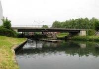 Modern Bridge at the Canal de l'Escaut