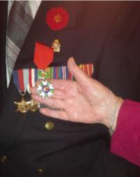 WO2 George Fouchard, CD (Ret'd) with medals