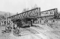 Sherman Tank launched Bailey Bridge