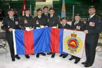 On Saturday, 7 May 2016, during the common ceremonial activity of the Abitibi-Témiscamingue cadet corps in Malartic, the commander (Major André Desrochers) and the Sergeant Major (Sergeant Jean-François Gouin) of 34 CER, Det Rouyn-Noranda, presented the Engineering insignia to the Army cadet corps of the region. This was part of the festivities marking the 75th anniversary of the military engineer presence in the region. The celebrations were held from 7 to 15 May 2016. /le samedi 7 mai, lors de la cérémoni