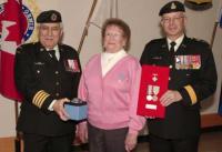 Col Comdt, BGen Gerry Silva, Mrs. Norma Hitchcock and BGen Steve Irwin J3 Engineer,