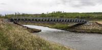 The Purple Bridge, a 40-metre modular steel equipment structure, was completed in time for MAPLE RESOLVE // La construction du pont Purple, une structure modulaire en acier mesurant 40 m, s'est achevée à temps pour l'exercice MAPLE RESOLVE 2016