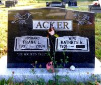 Frank Acker, Churchover Anglican Cemetery Shelburne NS