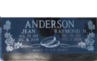 Raymond Nels Anderson gravemarker in the Wetaskiwin Cemetery