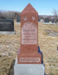 Lt Stirling Baudoux, Brookside Cemetery, New Glasgow NS