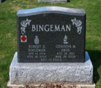 Spr Robert Donald Bingeman (Ret'd)