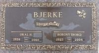 MWO Oral Helmer Bjerke, CD (Ret'd) GraveMarker