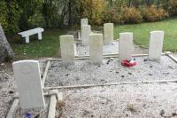 Some of the graves of the Canadian Forestry Corps in Supt, France. Four of the men buried in Supt are from the No. 2 Construction Battalion. (Submitted by Evelyne Comte)