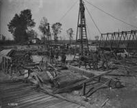 Canadian Engineers replacing wooden bridge over Canal du Nord, Nov 18