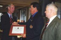 Ed Ashley receiving CME Branch Commendation