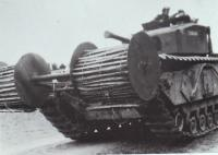 Maj Sucharov's chespaling on a Churchill Tank