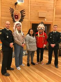 Maj French, Chief Louie, Councillor Sandra Luke,  former Chief Chris Luke Sr, Sgt Shiell