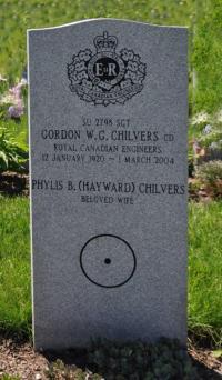 Sgt Walter George Gordon Chilvers (Ret'd), CD Beechwood Cemetery, Ottawa, ON