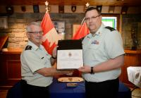 CME Colonel Commandant, BGen Steve Irwin (Ret'd) and CME Branch CWO, CWO Ron Swift Presentation date: 9 June 2017, Ottawa