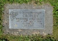 Myrle Miles Cropley Headstone, Mission BC