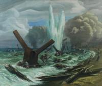 D-Day Beaches by Orville Fisher - himself trained as a Sapper before becoming the only war artist to land on D-Day.